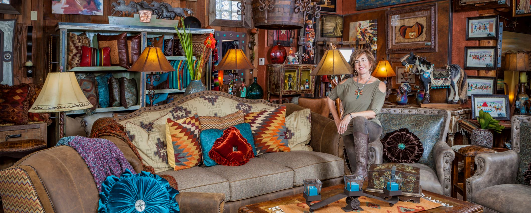 Faith the owner at Big Bronco Furniture Store