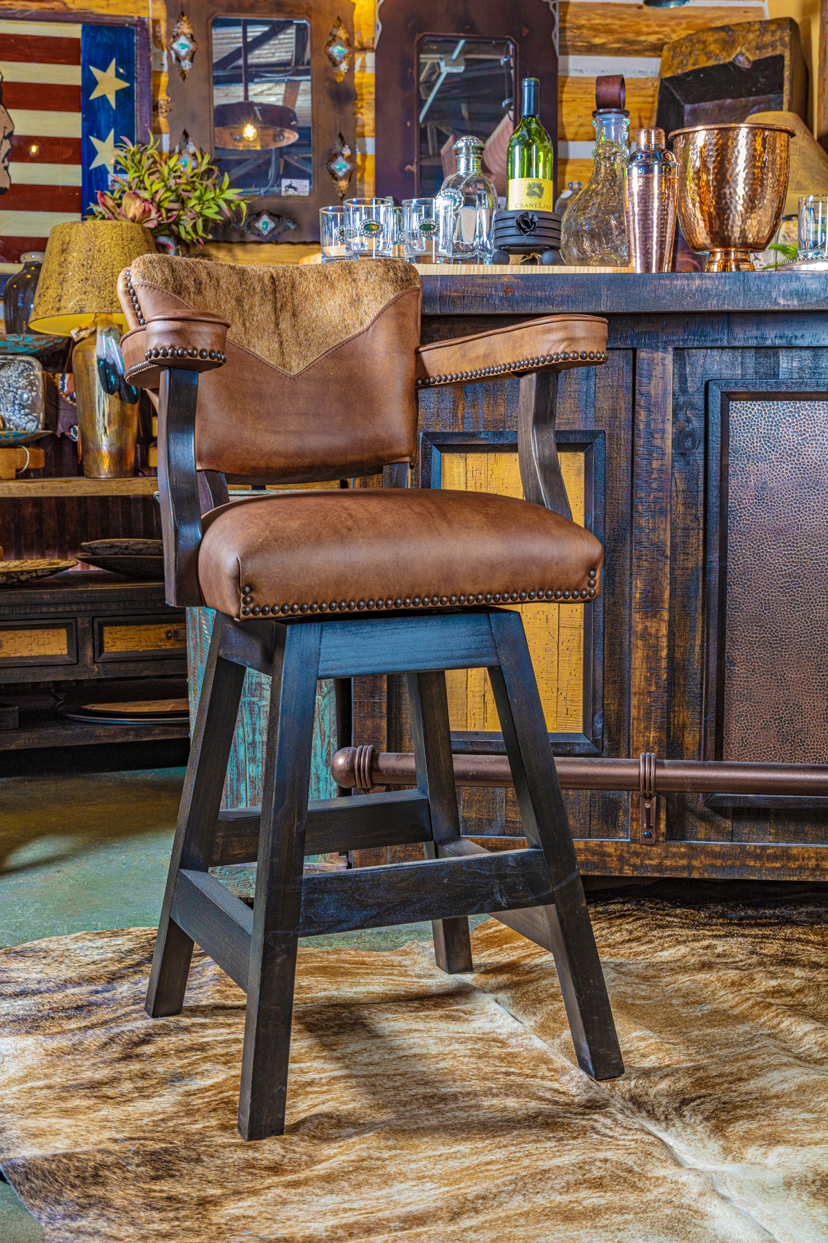 Rustic Bar Stool for southwest style home